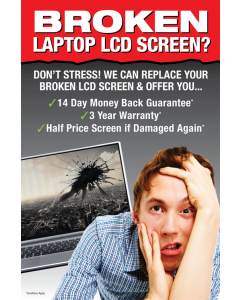 Promotional material - Laptop Screen Repair Poster