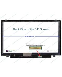 BOE NV140FHM-N62 V8.0 Replacement Laptop LCD Screen Panel (315mm wide)